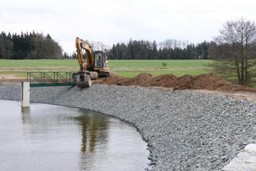 Stavba Podolského rybníku